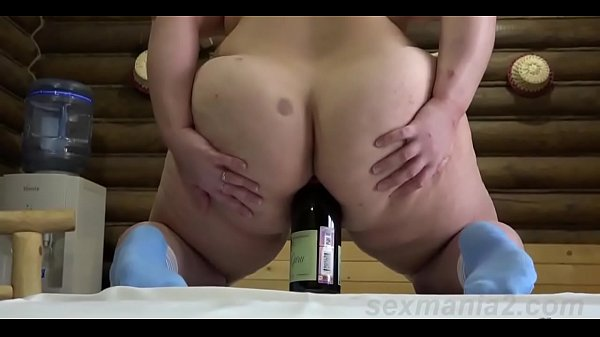 Fist ass, Bottle, Russian mature