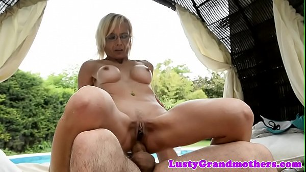 Old granny, Outdoor, Granny anal, Glasses