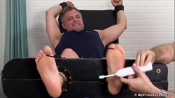 Mature, Tickling, Mature feet, Table, Older gay, Mature bondage